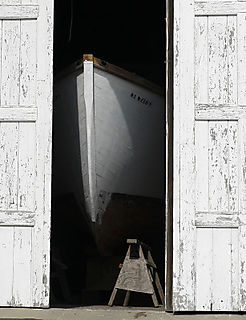 Boat in Garage