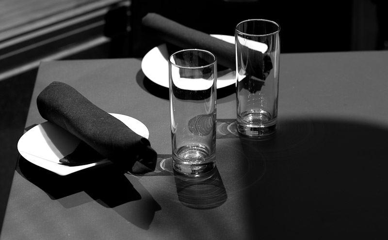 Table Setting B&W