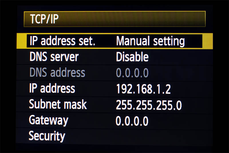 TCP_IP Screen
