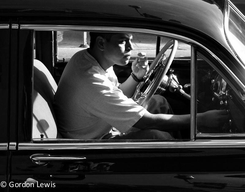 Dude in Classic Car