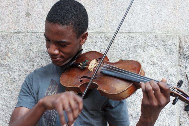 Violinist_Camera Portrait